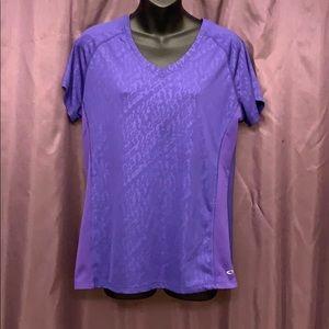 Champion Purple Short Sleeved Athletic T-Shirt